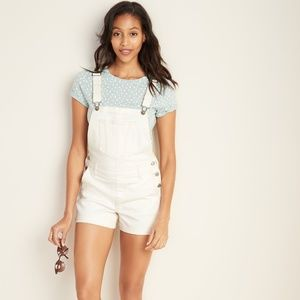 Old Navy- Off White Overall Shorts
